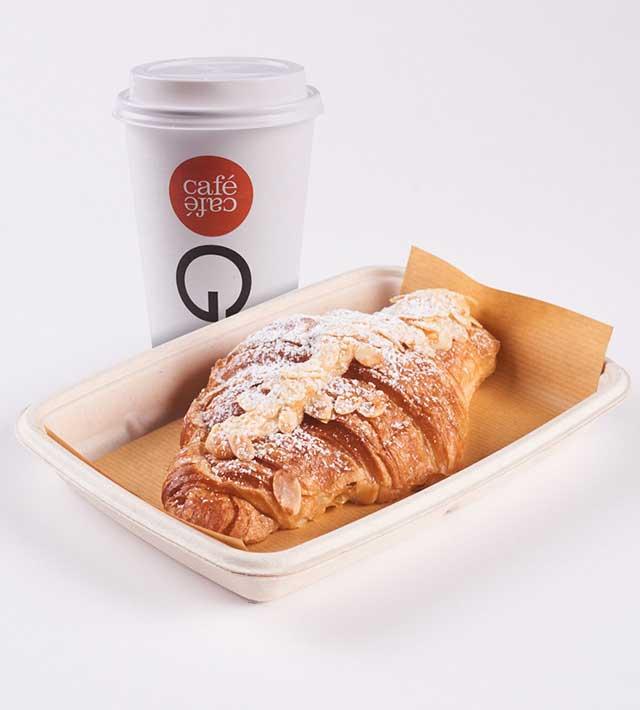 קפה ומאפה בקפה קפה נמל תעופה